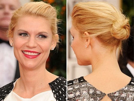 Claire Danes hairstyle Golden Globe Awards