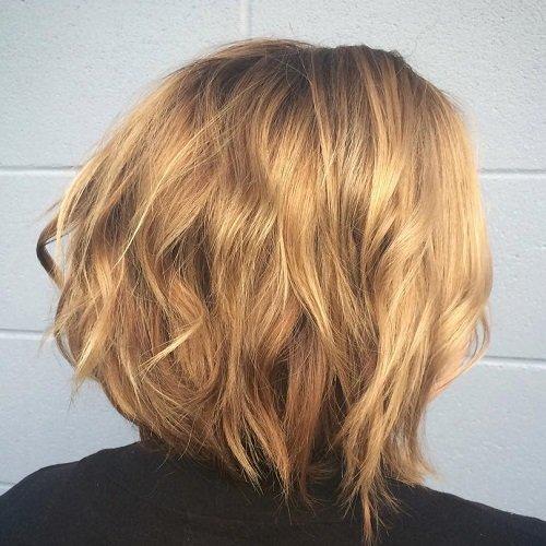 Wavy Blonde Bob Hairstyle